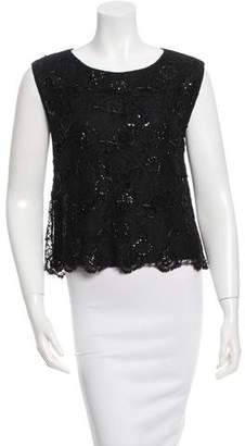 Alice + Olivia Embellished Lace Top w/ Tags