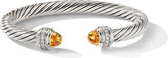 David Yurman Cable citrine and diamond cuff