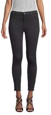 J Brand Alana High-Rise Lace-Stitched Skinny Jeans