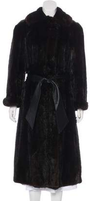 Bergdorf Goodman Mink Belted Coat