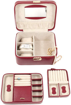 Bey-Berk Lizard Leather Jewelry Box