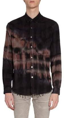 Amiri Men's Bleached Flannel Sport Shirt