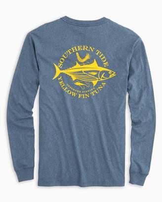 Southern Tide Fish Series Yellowfin Tuna Long Sleeve Heathered T-Shirt