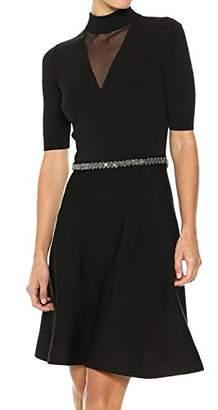 Rachel Roy Women's Beaded Waist Fit and Flare Sweater Dress