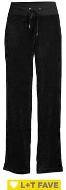 Calvin Klein Velour Drawstring Wide-Leg Pants