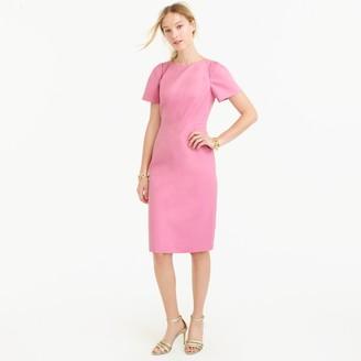 Petite gathered-sleeve dress in bi-stretch cotton $148 thestylecure.com
