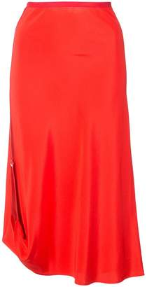 Area asymmetric midi skirt