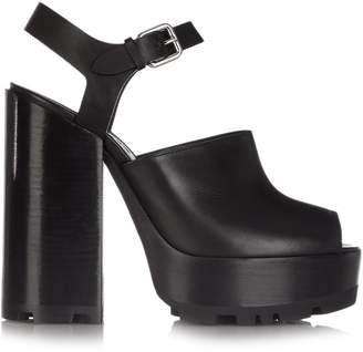 Jil Sander Open-toe leather platform sandals