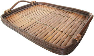 One Kings Lane Vintage Bent-Willow Bamboo Tray - AntiqueLifestyle