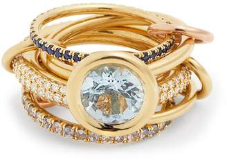 Rosegold SPINELLI KILCOLLIN Rana diamond, yellow-gold & rose-gold rings