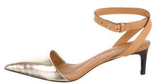 See by Chloe Metallic Pointed-Toe Sandals