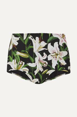 Dolce & Gabbana Floral-print Bikini Briefs - Green