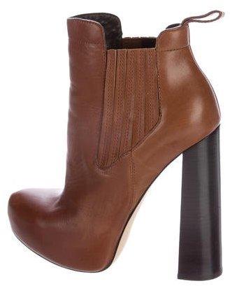 Alexander WangAlexander Wang Leather Platform Ankle Boots