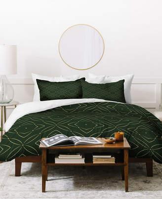 Deny Designs Marta Barragan Camarasa Vintage Pattern King Duvet Set Bedding