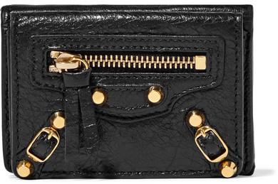 Balenciaga Balenciaga - Classic Mini Textured-leather Wallet - Black