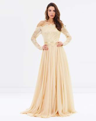 Charlotte Off-The-Shoulder Gown