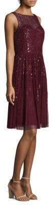 Aidan Mattox Sleeveless Short Dress