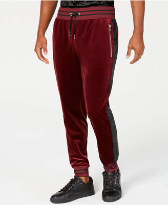 INC International Concepts I.N.C. Men's Velour Side Stripe Jogger Pants, Created for Macy's