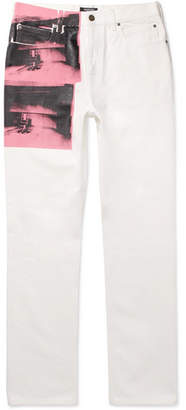 Calvin Klein + Andy Warhol Foundation Printed Denim Jeans