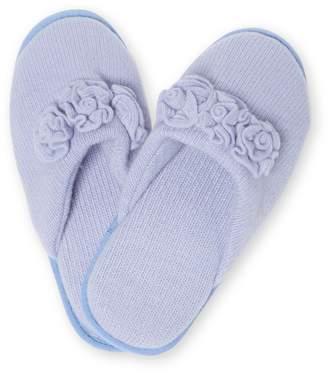 Portolano Rosette Cashmere Slippers