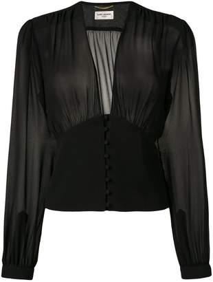 Saint Laurent sheer blouse