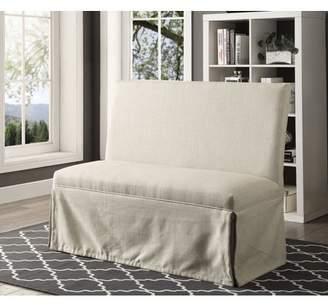 BEIGE Furniture of America Dehlia Tufted Love Seat Bench
