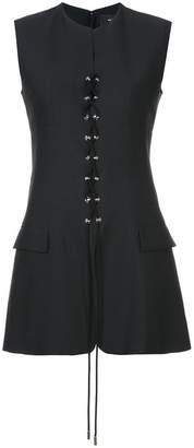 Tuxedo Vest with Lacing Detail