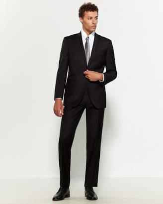 English Laundry Two-Piece Black Stitch Trim Wool Suit