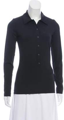 Anna Sui Long Sleeve Snap-Up Top Black Long Sleeve Snap-Up Top