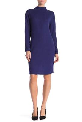 Joe Fresh Hacci Mock Neck Long Sleeve Sweater Dress