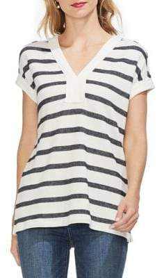 Vince Camuto Sunrise Bay Textured Striped Tee