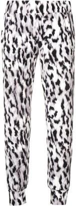 Norma Kamali leopard print track trousers