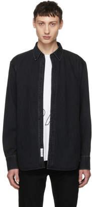 Rag & Bone Black Faded Denim Shirt