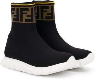 Fendi hi-top FF logo sneakers