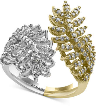 Effy Diamond Feather Bypass Ring (3/4 ct. t.w.) in 14k Two-Tone Gold