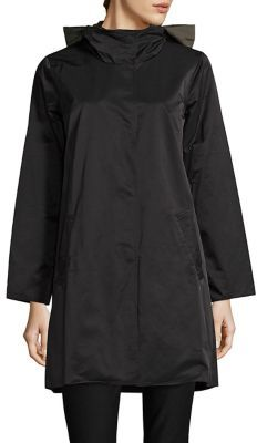 Eileen Fisher Reversible Hooded Coat $358 thestylecure.com