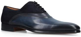 Magnanni Leather-Suede Oxford Brogues