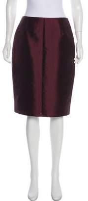 Akris Satin Knee-Length Skirt