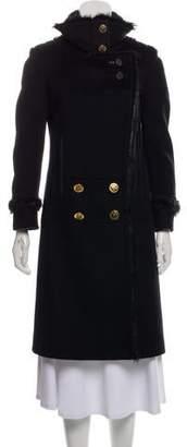 Gucci Fur-Trimmed Knee-Length Jacket
