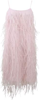 Michael Kors Ostrich Feather Mini Slip Dress