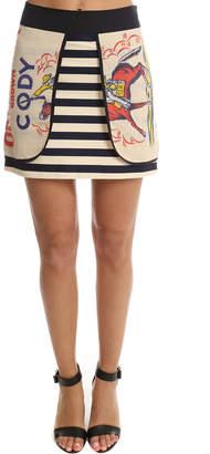 Warehouse Harvey Faircloth Feed Sack Layered Mini Skirt