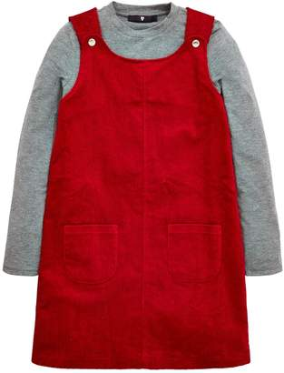 Very Girls Cord Pinafore and Long Sleeve T-Shirt Set