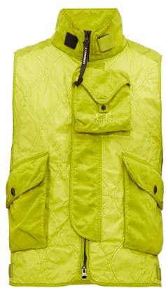 C.P. Company Multi Pocket Quilted Gilet - Mens - Green