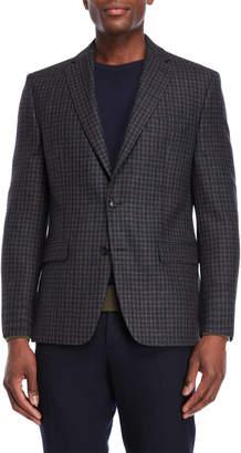 Lauren Ralph Lauren Navy Gingham Wool Sport Coat