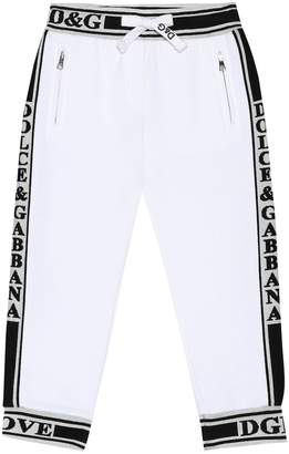 Dolce & Gabbana L'Amore cotton jersey trackpants