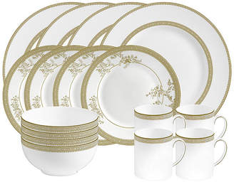 Vera Wang Wedgwood Dinnerware, Vera Lace Gold 16-pc Set