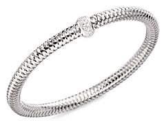 Roberto Coin Women's 0.22 TCW Primavera Diamond & 18K White Gold Woven Bracelet