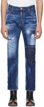 DSQUARED2 Blue Cropped Flare Jeans