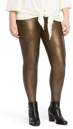 Spanx Faux Leather Leggings (Plus Size)