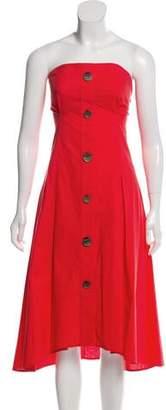 Ji Oh Asymmetrical Strapless Dress